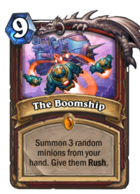 The Boomship Card